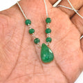 5 mm Certified Emerald Beads Chain Necklace in Sterling Silver - ZeeDiamonds