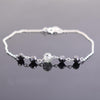 5 Ct Certified Black with Gray Diamond Chain Bracelet- AAA Certified