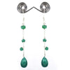 AAA Certified Emerald Gemstone Dangler Earrings, Latest Collection - ZeeDiamonds