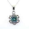 2.90 Ct AAA Certified Blue Diamond Solitaire Pendant with Sterling Silver