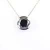 4 Ct Round Black Diamond Pendant in Sterling Silver - ZeeDiamonds