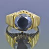 3 Ct Black Diamond Engagement Ring In 925 Silver - ZeeDiamonds