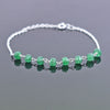 5 mm Faceted Emerald Gemstone Chain Bracelet, Very Elegant & Dainty - ZeeDiamonds
