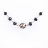 Certified Round Champagne & Black Diamond Beads Necklace