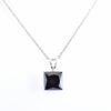 5.50 Ct Princess Cut Black Diamond Pendant with 925 Sterling Silver - ZeeDiamonds