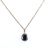 5.50 Ct Oval Shape Black Diamond Solitaire Pendant, Earth Mined Certified Diamond - ZeeDiamonds