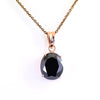 6.80 Ct Oval Shape Black Diamond Solitaire Pendant in Prong Setting