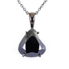 7 Ct Black Diamond Solitaire Pendant, Great Shine & Luster - ZeeDiamonds