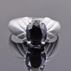 3.50 Ct Round Shape Black Diamond Solitaire Ring in 925 Sterling Silver - ZeeDiamonds