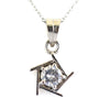 1.50 Ct AAA Certified Stylish Off-White Diamond Solitaire Pendant