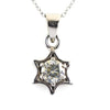1.50 Ct AAA Certified Elegant Off-White Diamond Solitaire Pendant, Star Design