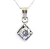 1 Ct Certified Off-White Diamond Solitaire Pendant, Elegant Shine