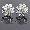 AAA Quality 1.60 Ct Designer Off-White Diamond Solitaire Studs. - ZeeDiamonds
