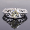 1.75 Ct Designer Off-White Diamond Ring in 925 Silver, 100% Certified - ZeeDiamonds