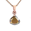 2.10 ct AAA Certified Pear Shape Champagne Diamond Pendant, Great Gift