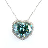 16.55 Ct Certified Blue Diamond Pendant with Diamond Accents- HEART SHAPED - ZeeDiamonds
