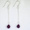 4.50 Ct Certified Natural African Ruby Gemstone Earrings, Great Shine