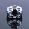 1.20 Ct AAA Quality Certified Round Black Diamond Solitaire Ring