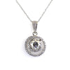 2 Ct Certified Designer Off-White Diamond Pendant with Accents
