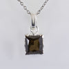 3.65 ct AAA Certified Princess Cut Champagne Diamond Pendant in New Style