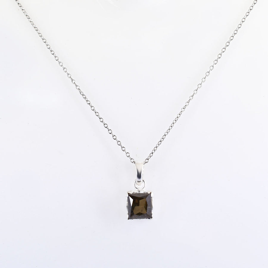 3.65 Cts Princess Cut Champagne Diamond Pendant In New Style