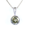2 Ct AAA Certified Elegant Off-White Diamond Solitaire Pendant, Bezel Style. - ZeeDiamonds