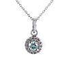 0.55 Ct AAA Certified Elegant Blue Diamond Pendant with Accents