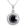 5 Ct Designer Black Diamond Solitaire Pendant, 100% Genuine - Certified