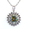 2.70 Ct Beautiful Greenish Blue Diamond Pendant With Accents