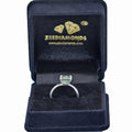 2 Carats Certified Blue Diamond Solitaire Silver Ring - ZeeDiamonds