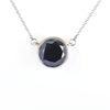 Rare 8.50 Ct Certified Black Diamond Solitaire Pendant with Bezel Setting