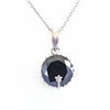 Rare 7 Ct Stunning Black Diamond Solitaire Pendant, AAA Certified