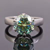 3.90 Ct Certified Blue Diamond Solitaire Ring in Prong Setting, Great Sparkle - ZeeDiamonds