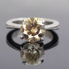 1.75 Ct Round Champagne Diamond Solitaire Ring, 100% Certified - ZeeDiamonds