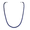 5 mm - 6 mm Blue Sapphire Gemstone Necklace With Gold Clasp - ZeeDiamonds