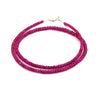 3mm-4mm Natural Ruby Gemstone Necklace With 18Kt Gold Clasp - ZeeDiamonds