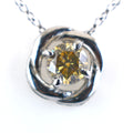 0.60 ct AAA Certified Elegant Champagne Diamond Pendant in New Style - ZeeDiamonds
