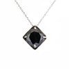 5 Ct, Certified Round Black Diamond Solitaire Pendant for Women's - ZeeDiamonds