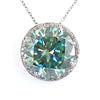 19.22 Ct Huge Blue Diamond Pendant with Diamond Accents, 100% Certified - ZeeDiamonds