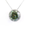 14.03 Ct Huge Blue Diamond Pendant with Diamond Accents, 100% Certified - ZeeDiamonds