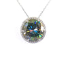 17.47 Ct Deep Blue Diamond Pendant with Diamond Accents, 100% Certified - ZeeDiamonds