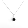 2.15 Cts, Round Black Diamond Solitaire Pendant, Great Shine & Luster - ZeeDiamonds