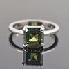 2.01 Ct Emerald Cut Blue Diamond Solitaire Engagement Ring - ZeeDiamonds
