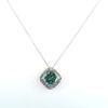 18.50 Ct Rare Blue Diamond Pendant with Diamond Accents, 100% Certified - ZeeDiamonds