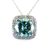 16.45 Ct Huge Blue Diamond Pendant with Diamond Accents, 100% Genuine. Certified - ZeeDiamonds