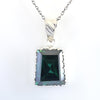 8.60 Ct AAA Certified Greenish Blue Diamond Pendant, Latest Design - ZeeDiamonds
