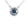 3.65 Ct Deep Blue Diamond Pendant with 0.35 Ct Accents, 100% Certified - ZeeDiamonds