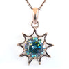 5.50 Ct Certified Blue Diamond Solitaire SUN DESIGn Pendant - ZeeDiamonds