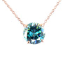 3.55 Ct AAA Quality Blue Diamond Solitaire Pendant, Ideal For Gift - ZeeDiamonds