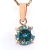 2.95 Ct AAA Certified Blue Diamond Solitaire Pendant in Prong Setting - ZeeDiamonds